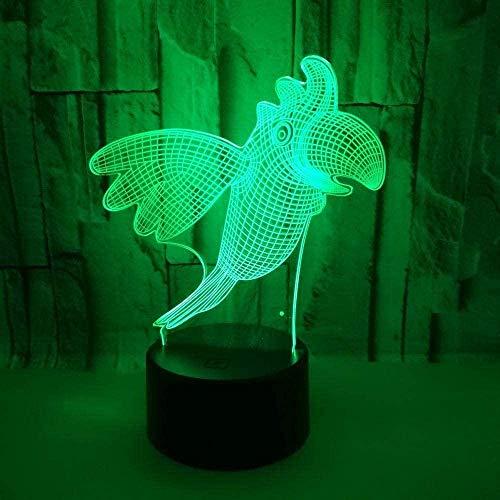 GEZHF - Luz de noche 3D con iluminación LED, 7 colores, decoración del hogar, regalo para niños, altavoz Bluetooth, regalo ideal para el día de la madre