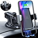 Andobil Wireless Car Charger, Qi Safe Fast Charging 10W/7.5W Auto-Clamping Car Wireless Charger Vent Dash Car Phone Holder for iPhone SE/11/11 Pro Series/X/XS/XR/8, Sammung Galaxy S20 S10 S9 Note10/9