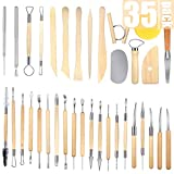 35-Pack Clay Tools Sculpting Pottery Tools Polymer Modeling Clay Sculpture Set for Pottery Modeling,Carving,Ceramics