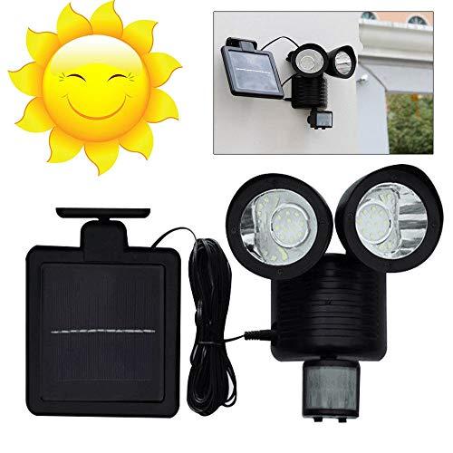 LED Solarleuchte Solarlampe AuBen Leuchte Solarstrahler Bewegungsmelder Sensorlicht Wandleuchte, Energiesparende Wasserdichte Sensor-Licht fur Garten Deck, Hof, Flur, Veranda Lamp (22LED)