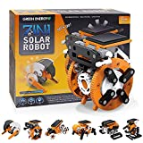 Avky Stem Toys for 6-10 Year Old Boys and Girls, 7-in-1 Education Solar Robot Toys Solar Powered by The Sun|DIY Stem Projects for Kids Ages 8-12, Gifts for 9-15 Year Old Boys and Girls