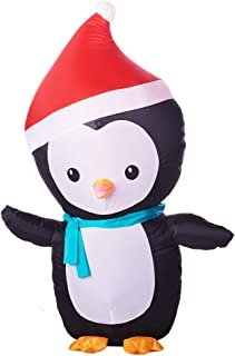 Airblown Inflatable 4' Christmas Penguin with Santa Hat and Scarf