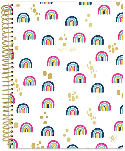 """Daisy by bloom daily planners 2020-2021 Academic Year Student Day Planner (July 2020 - July 2021) - Elementary Through Middle School Calendar Agenda Book - 7"""" x 9' - Rainbows"""