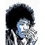 Wee Blue Coo Photo Painting Rock Legend Jimi Hendrix