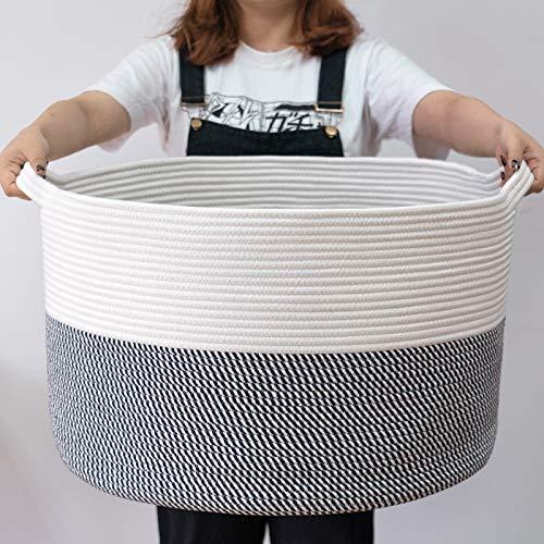 INDRESSME XXXLarge Cotton Rope Basket 21.7