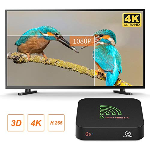 GTMEDIA Android 9.0 TV Box【4G+64G】 G5 Android TV Box mit Amlogic S905X2 Quad-Core/ unterstützt WiFi 2.4G/5.0G /Bluetooth 4.0/ 4K/HD/ USB 3.0/H.265 Smart tv Box Android Box