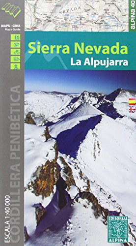 Sierra Nevada / la Alpujarra map and hiking guide: ALPI.290 (Mapa Y Guia Excursionista)