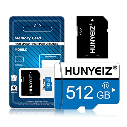 512GB Memory Card Class 10 Card Micro SD Card Compatible Computer Camera and SmartphoneTF Memory Card with a SD Card Adapter512GB