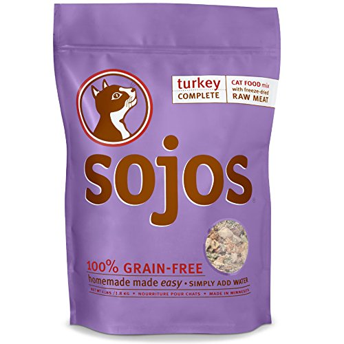 Sojos Complete Turkey Recipe Dehydrated Cat Food, 4 lb