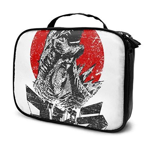 Trousse de Maquillage Pochette cosmétique Godzilla The King Will Rise Kit de Voyage pour Sac Multifonctionnel