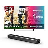 Hisense 50AE7200F 126 cm (50 Zoll) Fernseher + HS214 2.1 So&bar Home Theater System/ 80W/ integrierter Subwoofer/Bluetooth/Schwarz