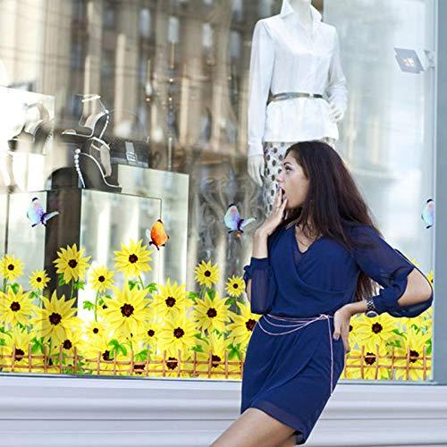 whmyz African Daisy Baseboard Aufkleber DIY Blume PVC Wandaufkleber für Wohnzimmer Glasfenster Home Decoration