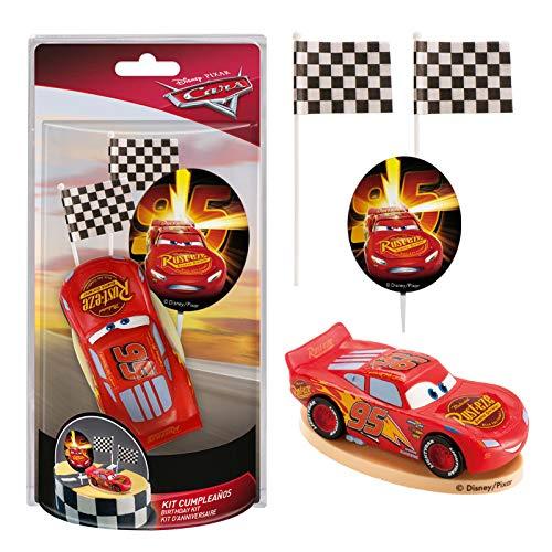 Dekora 303009 Lightning McQueen Figuren für Torte, bunt