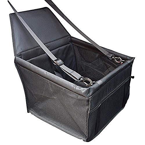 Yunhine Asiento de seguridad para perros Resistente al desgaste Almohadilla de asiento engrosada Almohadilla de coche (Negro)