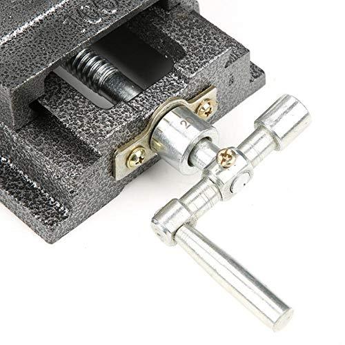 Herramienta de sujeción de deslizamiento cruzado de 4 pulgadas, mesa de trabajo de resistencia industrial para mantenimiento de maquinaria para fresadora para pulir