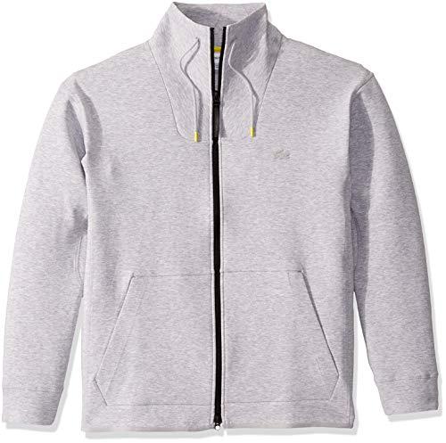 Lacoste Mens Long Sleeve Milano Lacoste Motion Full Zip Classic Sweatshirt Sweatshirt, Silver Heathered, XL