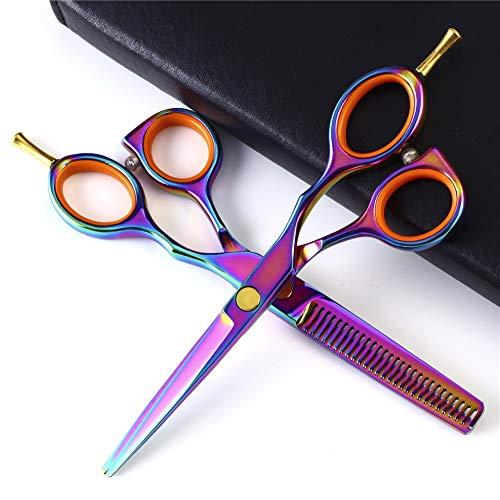 WYGC Scissors Ciseaux Coiffure,Ciseaux de Coiffeur Coupe De Cheveux et Couper l'amincissement pour Salon de Coiffure,Salon,Accueil ou Utilisation de V
