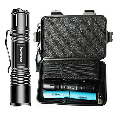 1200 High Lumen Mini LED Flashlights Rechargeable Tactical Flashlight Zoomable Waterproof Bright 4 Lighting Modes