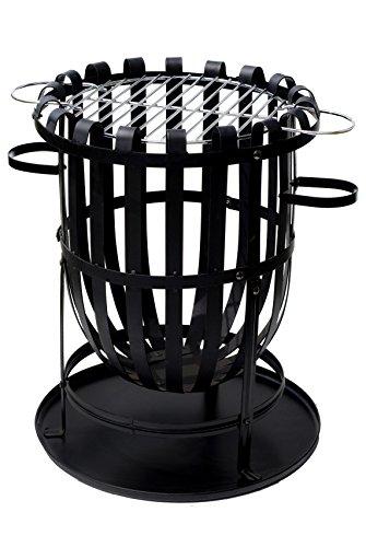 Buschbeck Feuerstelle, Feuerkorb Barcelona, schwarz, 40 x 40 x 56 cm, 90087.000