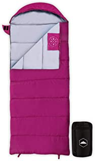 Tough Outdoors Kids Sleeping Bag for Girls, Boys, Youth & Teens - Perfect for Warm & Cool Weather Camping, Children's Sleepovers & Nap Time - 3-Season, Lightweight & Compact - Fits Kids up to 5'1