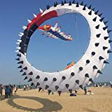 EMRE Fuerte y Robusto Cometa, Cometa de los niños Cometas for los niños Fácil de Volar con Deportes al Aire Libre del balanceo del dragón giratoria Thorn Anillo Colgante de la Cometa