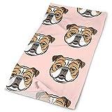 NA Bulldogs - Diadema facial para maquillaje, diseño de bulldog inglés, color rosa y británico, color rosa, Mujer, color amarillo, tamaño 1 unidad