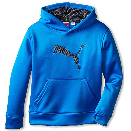PUMA Little Boys Wind and Water-Repellant Big Cat Hoodie Sweatshirt Size 4, Blue