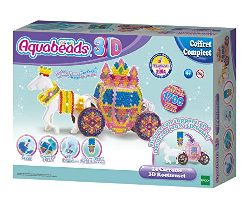 Aquabeads-Le Kutsche Perlen zum Kleben, 31391, mehrfarbig