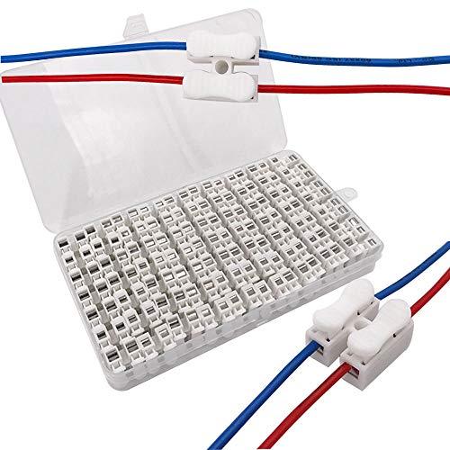 Senvenelec 62Pcs Feder-Schnellanschlussblock-Anschlussblock 10A, Kabelschelle Anschlussblock-Anschluss, Beleuchtung, Energie und Fahrzeugverkabelung Connection-50Pcs CH2 12Pcs CH3