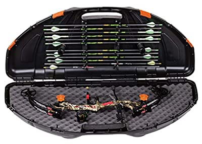 Flambeau Outdoors 6461SC Safe Shot Bow Case, Portable Bow Storage, Black