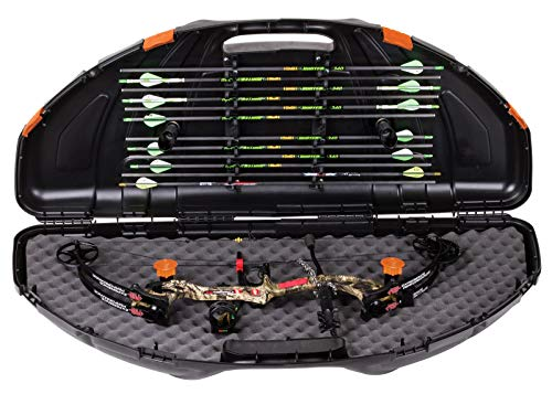 Flambeau Outdoors 6461SC Safe Shot Bow Case, Portable Bow Storage, Black