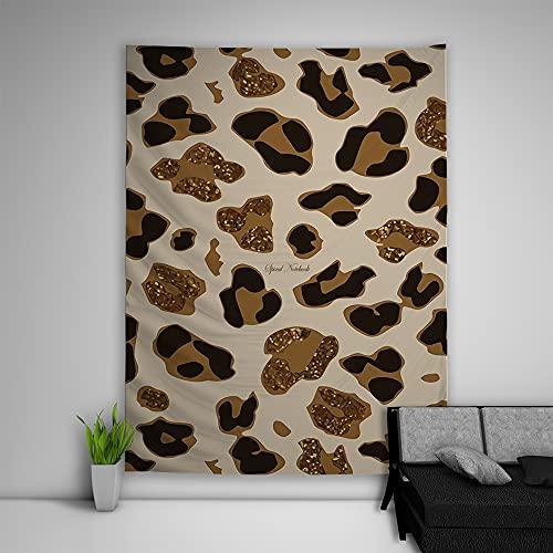 Crazynekos Tapiz abstracto tríptico hippie para colgar en el sofá, la mesa, la cama, la manta de playa para el hogar, el dormitorio, decoración de la habitación (200 x 150 cm), color melocotón