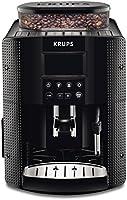 KRUPS Essential EA815070, Ekspres do kawy ciśnieniowy automatyczny, Czarny ekspres, Doskonałe espresso, Wyświetlacz LCD,...
