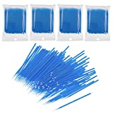 JZK 400 Piezas plastico desechables cepillos de pestañas de varitas rímel maquillaje pinceles aplicadores para maquillaje de ojos limpieza y extensión
