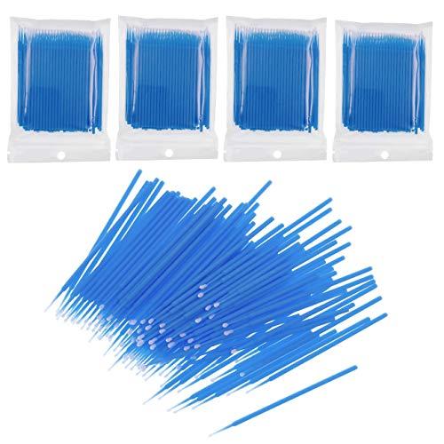 JZK 400x Kunststoff Microbrush Einweg Microbürsten Wimpernbuerste für Augen Bilden, Reinigung Und Wimpernverlängerung