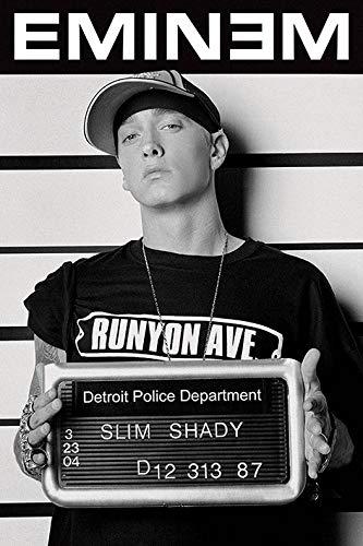 Unbekannt Eminem Drucken, Mehrfarbig, 61 x 91.5cm