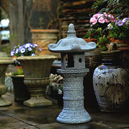zenggp Large Zen Pagoda Asian Lantern Garden Decor Statue Tower Asian Outdoor Art Oriental Lawn Sculpture Stone Statue