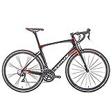 DJYD Männer Frauen Rennrad, 22 Speed-Ultra-Light-Carbon-Faser-Straßen-Fahrrad, Erwachsene Rennrad, 700C Räder Sport Hybrid Rennrad, Blau FDWFN (Color : Red)