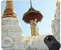 カスタマイズされるマウスパッドステッチされた端が付いているミャンマーの大仏の彫像のマウスパッド
