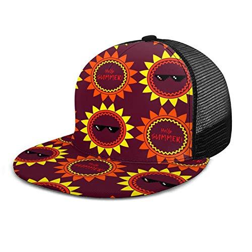 Sun in Gafas de sol Unisex Gorra de béisbol Estilo Polo Clásico Deportes Casual Sombrero de Sol Sombrero de Papá Sombrero Negro