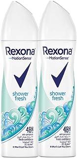 Rexona Women Antiperspirant Deodorant Shower Fresh, 150 ml (Pack of 2)
