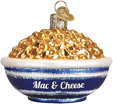 Old World Christmas Various Foods Glass Blown Ornaments for Christmas Tree Bowl of Mac Cheese product image