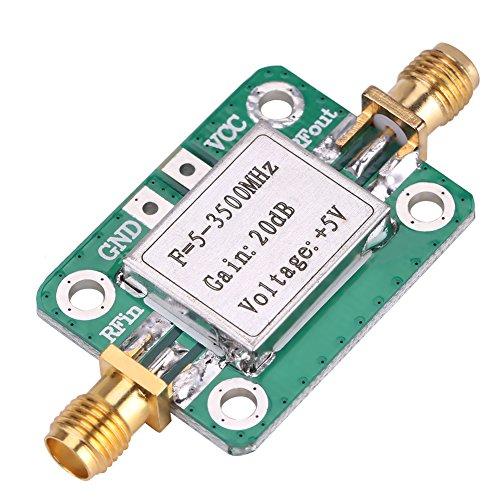 RF Verstärkermodul Amateurfunk 5-3500 MHz Breitband 20 dB High Gain LNA Low Noise mit Abschirmschale für Kurzwelle FM TV Audio