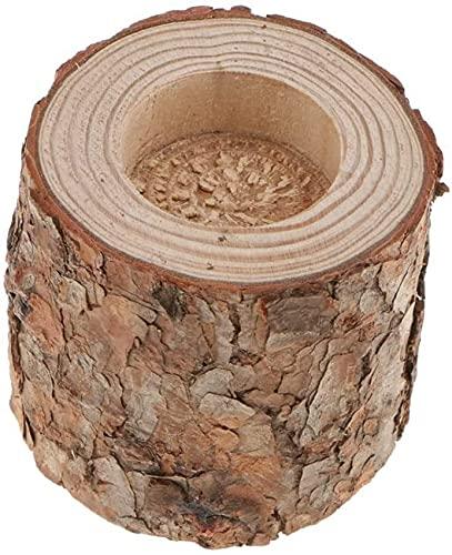 YGXR Furniture and kitchen decorations, Natural Pine Wood Tree Branch Wooden Candle Holder Handmade Candlesticks for Home Decoration, Succulent Plant Birch Bark Holder - 7cm