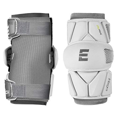 Epoch Integra Elite Lacrosse Arm Pads with 2-Step Multi-Density Foam, X-Large, White