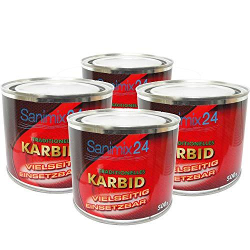 Sanimix24 2 Kg Karbid ALT BEWÄHRT & ERGIEBIG große Stücke für langanhaltende Wirkung und hohe Gasentwicklung für Karbidlampen Karbidschweißen usw. - 24h SOFORTVERSAND - Carbid Calciumkarbid