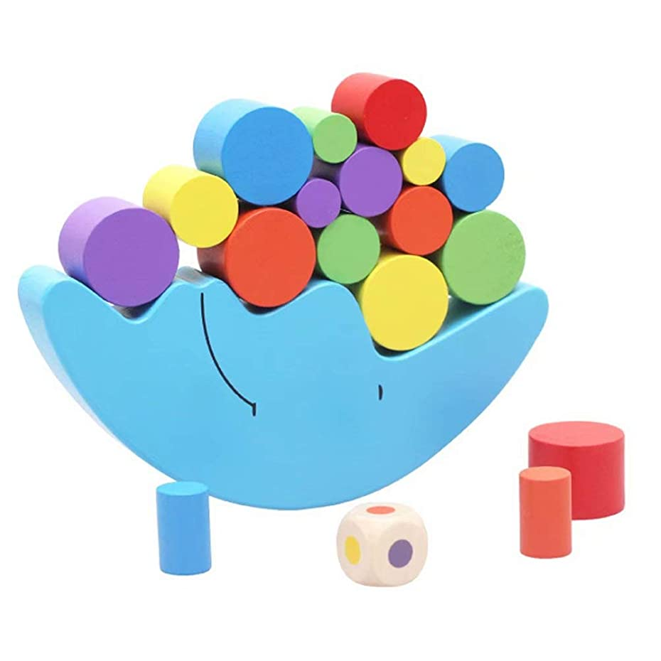もろい成人期つかまえる木製積み木 バランスゲーム 月平衡ゲーム 分類おもちゃ バランス 月 おもちゃ 子供 赤ちゃん 女の子 男の子