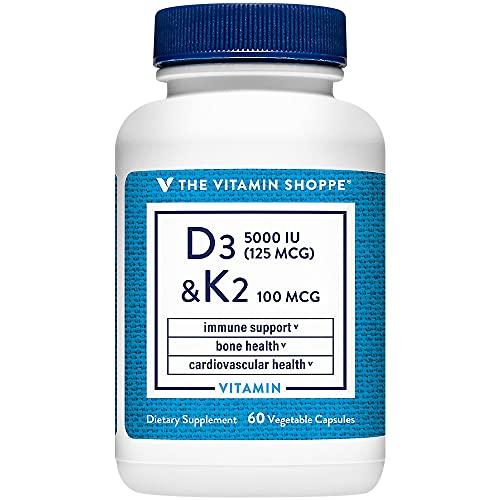 Vitamin D3 and K2 Supports Immune Bone Health (60 Capsules)