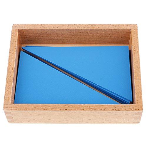 Baoblaze Juego de Juguetes de Construcción de Aprendizaje para Jardín de Infantes para Niños - Triángulos Azules Montessori
