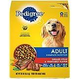 PEDIGREE Complete Nutrition Adult Dry Dog Food Grilled Steak & Vegetable Flavor Dog Kibble, 30 lb. Bag
